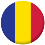 Andorra Civil Flag 58mm Button Badge